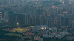 Fei ngo shan Kowloon Peak day to night timelapse Hong Kong cityscape skyline Stock Footage