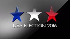 Usa 2016 election 3 Stock Footage
