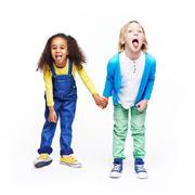 Funny children - stock photo