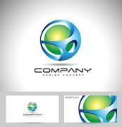 Sphere Logo Design Stock Illustration