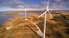 The big windmills on the island of Saaremaa Stock Footage