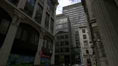 Leadenhall Street seen from Whittington Ave, London - stock footage