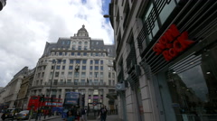 The Monument Station building in London Stock Footage