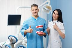 Stomatology and health care concept - stock photo