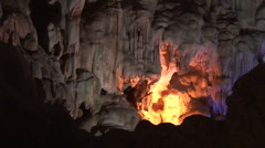 Dau Go Caves in Halong Bay Stock Footage