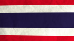 Thai flag waving in the wind (full frame footage) Stock Footage