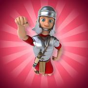 Roman soldier - stock illustration