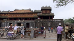 the Citadel in Hue, Vietnam - stock footage