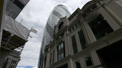 Low angle view of The Gerkin in London Stock Footage
