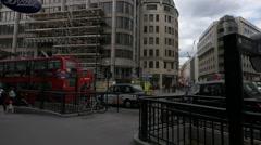 Traffic on King William Street in London Stock Footage