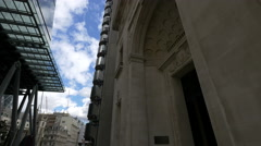Leadenhall Street with old and modern buildings in London - stock footage