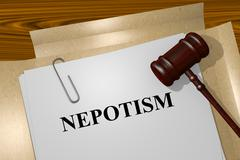 Nepotism concept Stock Illustration