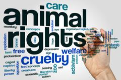 Animal rights word cloud Stock Photos
