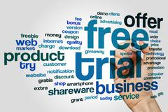 Free trial word cloud Stock Photos