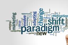 Paradigm shift word cloud Stock Photos