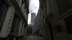 The Leadenhall Building seen from Road Lane in London - stock footage