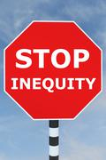Stop Inequity concept Stock Illustration
