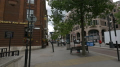 Great Tower Street with pubs in London - stock footage