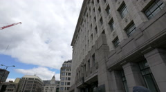 Adelaide House in London Stock Footage