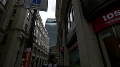 20 Fenchurch Street seen from Whittington Ave in London Stock Footage