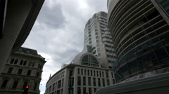 Tall building on a street in London Stock Footage