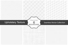 Seamless white decorative textures. Stock Illustration