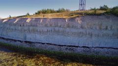 The white Panga cliff in Saaremaa Stock Footage