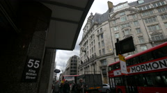 King William Street seen in the afternoon in London Stock Footage