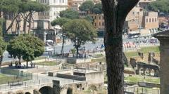 Forum Romanum Rome Italy Stock Footage