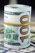 The US currency - banknotes - Dollar Stock Photos