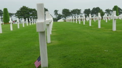The white crosses on the cemetery Stock Footage