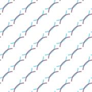 Seamless Colorful Abstract Pattern from Repetitive Arcs Stock Illustration