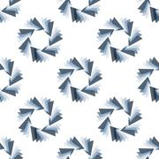 Seamless Colorful Abstract Pattern from Repetitive Triangles Stock Illustration