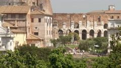 Forum Romanum Rome Italy - stock footage