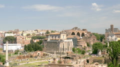 Forum Romanum Rome Italy Stock Footage