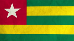 Togolese flag waving in the wind (full frame footage) Stock Footage