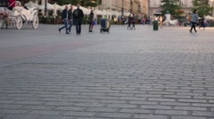 People walking on the old town square. Timelaps Stock Footage