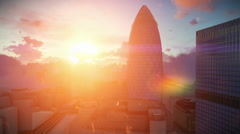 London time lapse sunrise, Swiss Reinsurance Headquarters, The Gherkin Stock Footage
