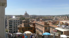 overview of rome - stock footage