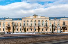 Tver, Russia - February 27. 2016.  Administration of the city of Tver, built  Stock Photos