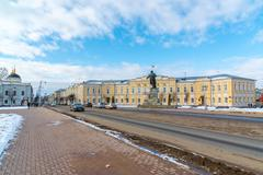 Tver, Russia - February 27. 2016.  The building of the City Administration in - stock photo