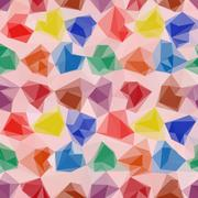 Abstract Low Poly Background - stock illustration