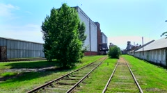 Railroad to the storage of grain Stock Footage
