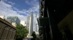 Heron Tower seen from London Wall, London Stock Footage