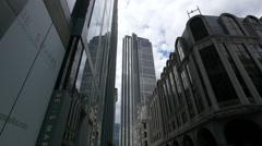 Heron Tower seen from Bavis Marks in London Stock Footage