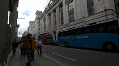 People walking on King William Street in London Stock Footage