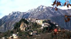 Castel San Vincenzo small village of Molise, Stock Footage