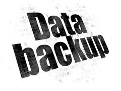 Data concept: Data Backup on Digital background - stock illustration