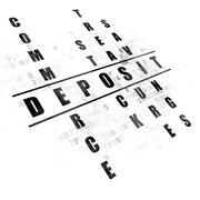 Banking concept: Deposit in Crossword Puzzle Stock Illustration