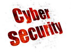 Security concept: Cyber Security on Digital background Piirros